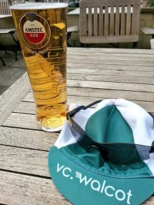 Enjoy a beer after a ride with the Bath cycling club VC Walcot