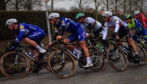 Professional cyclists including World Champion Peter Sagan compete in a race in Belgium