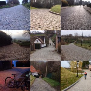 Cyclists' famous cobbled climbs of Flanders