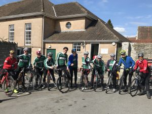 Velo Club Walcot members pose during Barrys Bristol Blast Audax cycle ride
