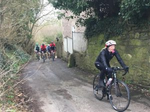 Cyclists from Velo Club Walcot take part in the 2018 Classics Ride