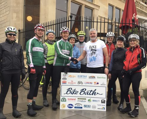 Cyclists from the Velo Club Walcot in Bath England agree to help organise a famous cycling event Bike Bath in 2019