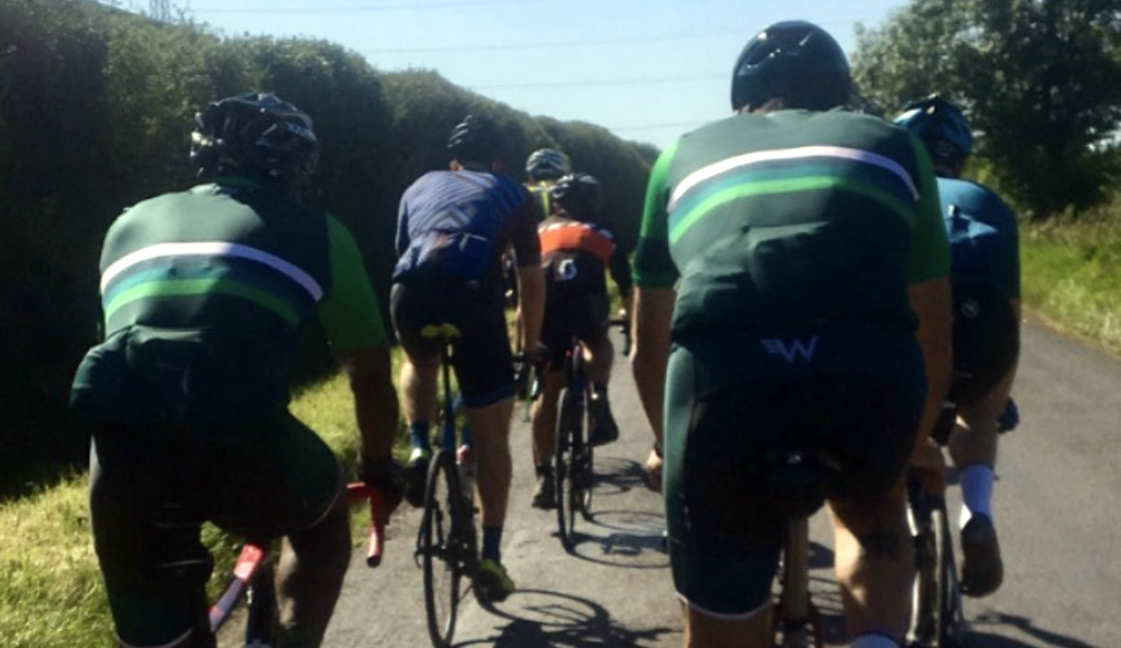 Velo Club Walcot group on a Sunday ride