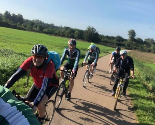 Cycling club VC Walcot on a First Aid training course in Sept 2018